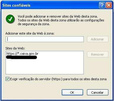 Relação de sites confiáveis
