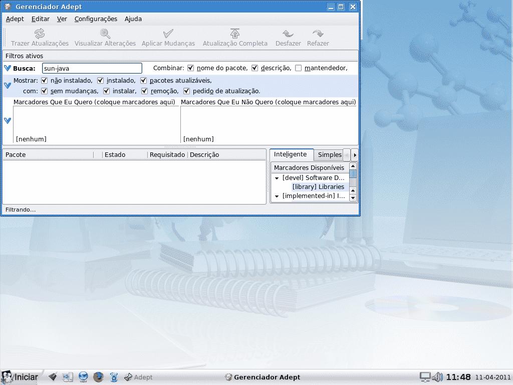 java6-jre no Linux Educacional 3.0