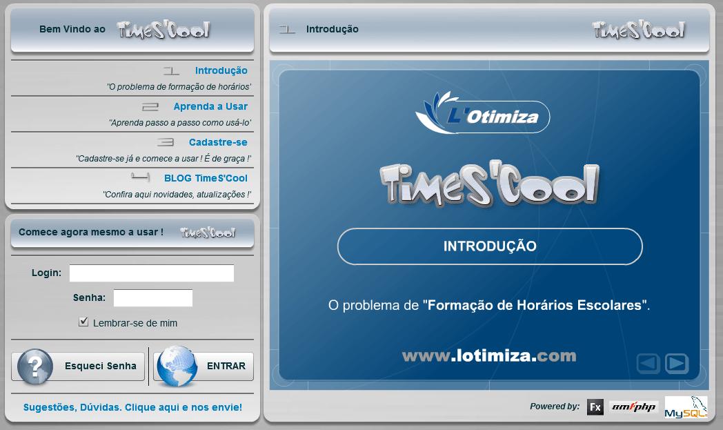 TimeS'Coll aplicativo para criar horário escolar