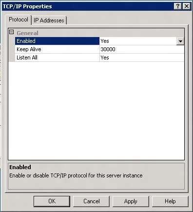 Ativar protocolo TCP/IP