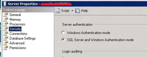 Alterando o modo de autenticação do SQL Server 2008 R2
