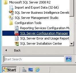Abrindo o SQL Server Configuration Manager