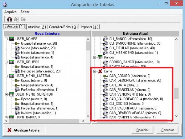 Instalando e atualizando o Super Carnê - Adaptador de tabelas - Estruturas