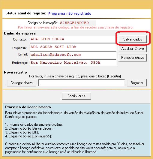 Salvar Registro
