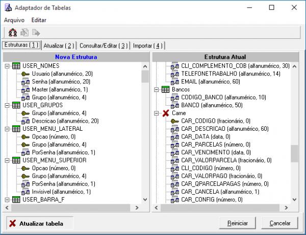 Adapter - Tabela marcada porque está desatualizada
