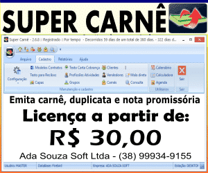 Super Carnê - Programa para emissão de carnê de pagamento, nota promissória, duplicata e recibos